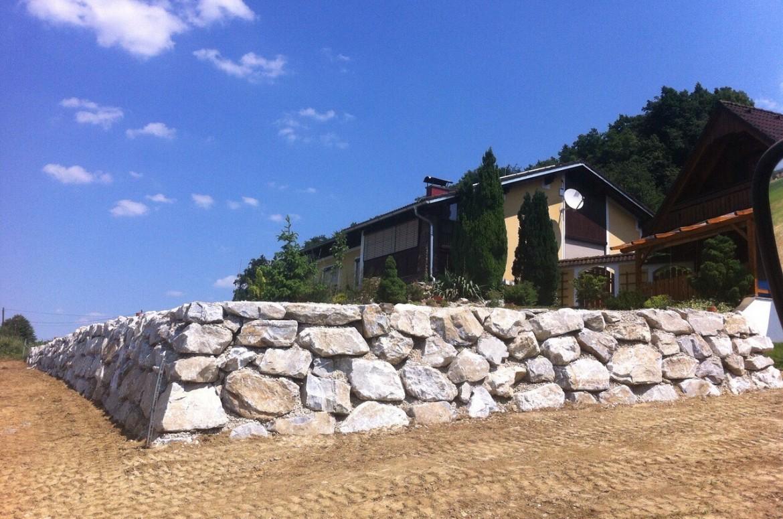 Steinschlichtung Fernitz 2015